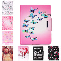 Painted Flip PU Leather Case For Apple IPad 4 3 2 9 7 Inch Back Covers