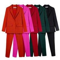 Рабочие брючные костюмы OL, комплект из 2 предметов для женщин, деловой костюм для интервью, комплект, Униформа, блейзер и брюки-карандаш, офис...