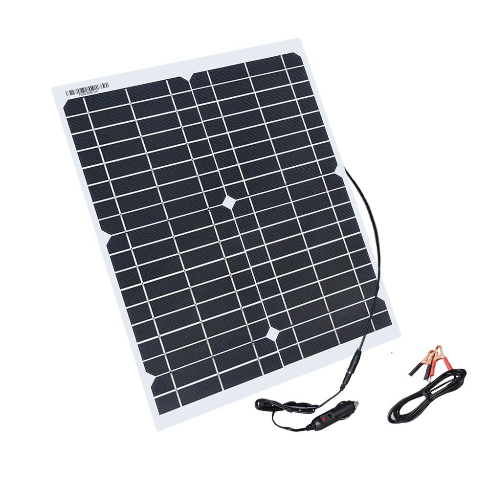 Boguang 20w painéis de células solares de células do painel solar flexível módulo DC para carro luz iate RV 12v bateria barco 5v carregador ao ar livre