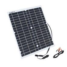 Boguang 유연한 태양 전지 패널 20w 패널 태양 전지 셀 모듈 dc 자동차 요트 빛 rv 12v 배터리 보트 5v 야외 충전기