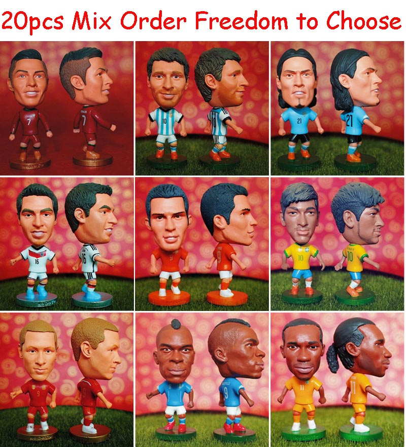 20pcs Mix Order KODOTO Soccer Soccerwe Doll Dolls Football Basketball Star Display Toy Freedom to Choose