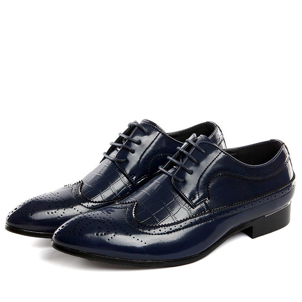 QFFAZ New Men Leather Casual Shoes Flats Business Oxford Shoes Men Oxfords Formal Shoes Wedding Men Shoes Big Size 38-48