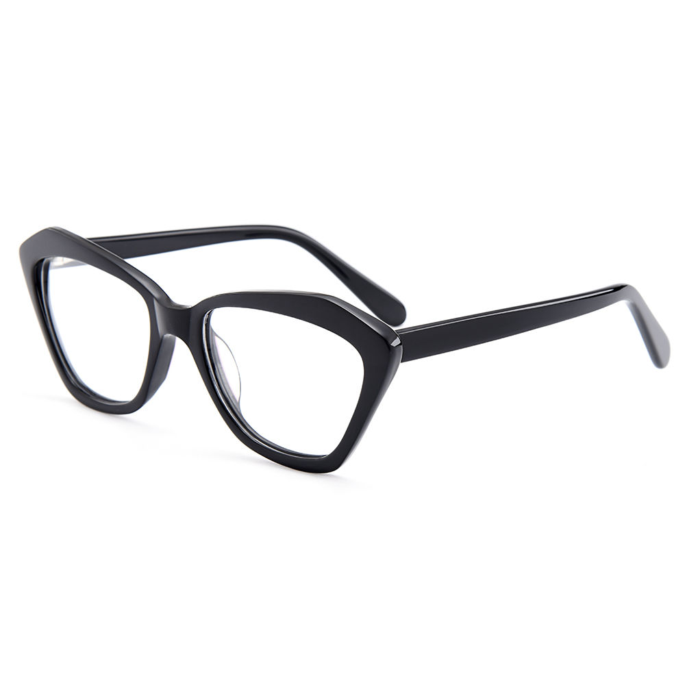54d9f5b3d59 BAONONG New Arrival Trendy Cat Eye Style Acetate Optical Eyeglasses Full  Rim Frames For Women Prescription Glasses T008-in Eyewear Frames from  Apparel ...