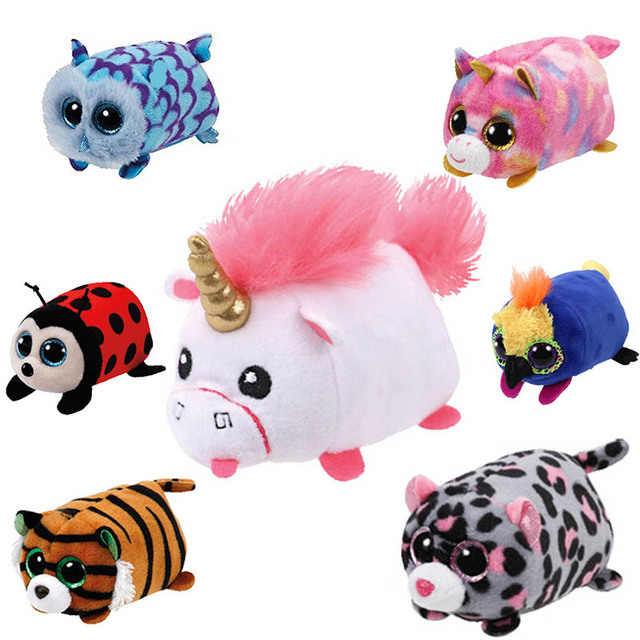 7f7692242fc TY Beanie Boo teeny tys Plush - Icy the Seal 9cm Ty Beanie Boos Big Eyes  Plush Toy Doll Purple Panda Baby Kids Gift Mini Toys