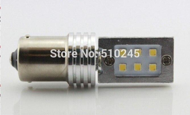 30X hot sales 6W 1156 P21W 12 LED 2323 SMD 12V Car Turn Signal Brake Stop Reverse Light Bulb White amber free shipping