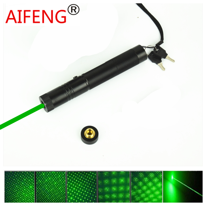 AIFENG Green laser pen stage lamp light Adjustable focus match 100 mw tactical laser flashlight 4000