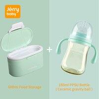 Jerrybaby Portable Milk container Baby Nursing Bottle Infant Feeding PPSU Drinking Bottle Snack Powder Box Food Storage