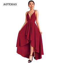 AOTEMAN Long Summer Dress Women 2019 Sexy Elegant Backless Bandage Dresses Plus Size Vintage Beach Party Dress Robe Vestidos 3XL(China)