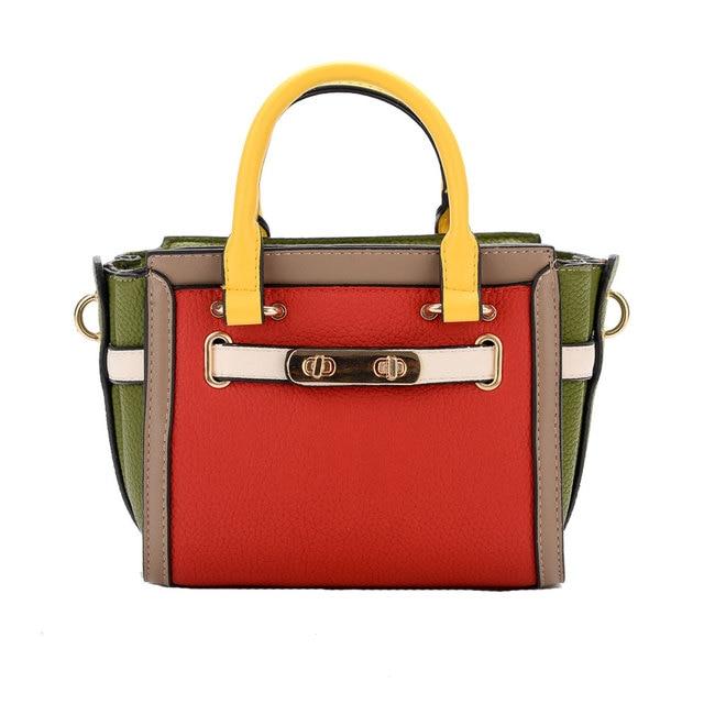 2017 NEW Ladies Handbag Luxury Handbags Women Bags Designer Top-handle Candy  Color Female Pochette Briefcase Messenger Bags 6ab5bfe12608e