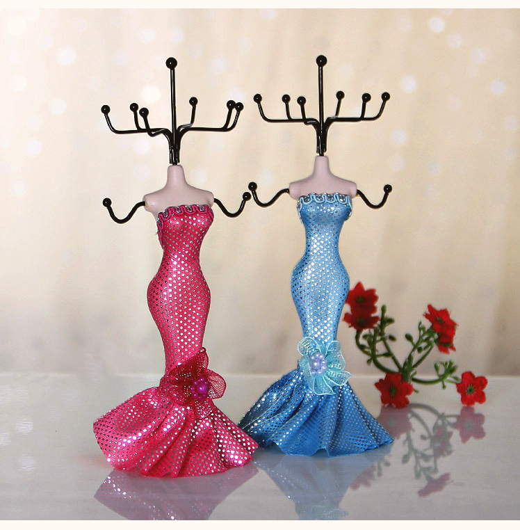 Fashion Mannequin Doll Rack Necklace Retro Earring Ring Jewelry