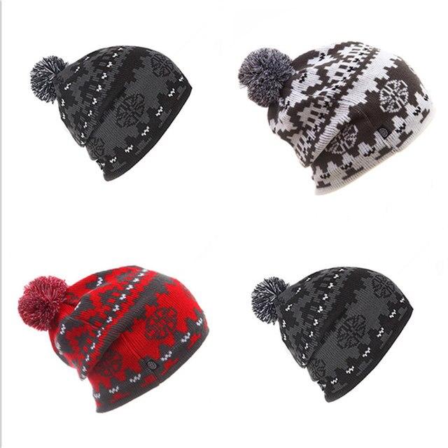 2017 NEW Skiing Hats for Men Women Warm Winter Knitting Skating Skull Cap  Hat Beanies Turtleneck Caps Ski Cap Snowboard Hat 1898f9126cff