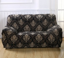 Geometic Blumendruck Spandex Stretch Sofa Abdeckung Hussen Elastische All-inclusive Abnehmbare Couch Fall Abdeckung Wohnzimmer