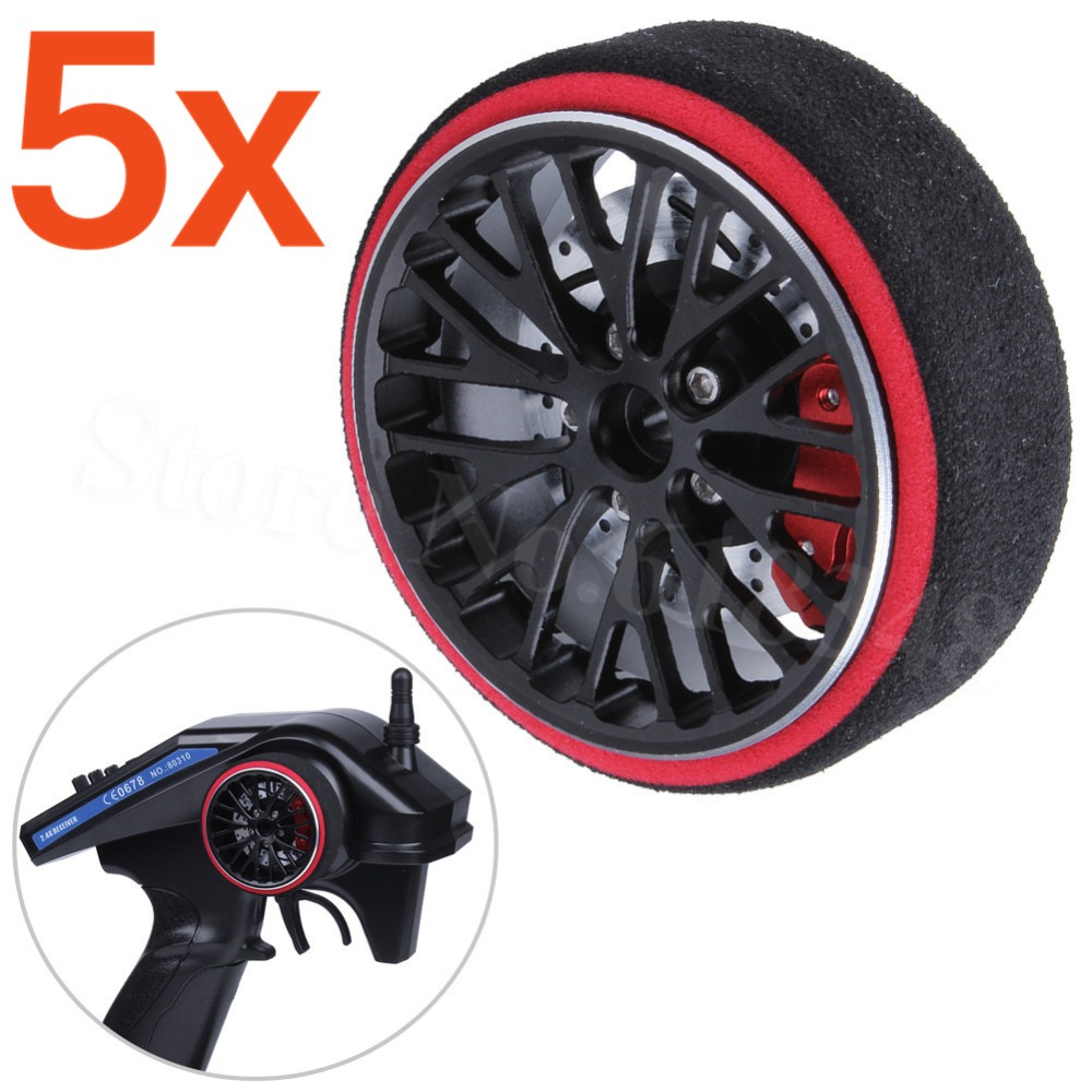 5pcs Lot Aluminum RC Transmitter Steering Wheel with Foam Grip for Car Boat TRAXXAS Futaba FS
