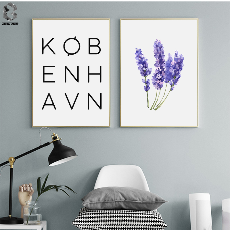 Scandinavian Posters and Prints Wall Art Canvas Painting Wall Picture For Living Room Nordic Decoration Letter Flower in Painting Calligraphy from Home Garden