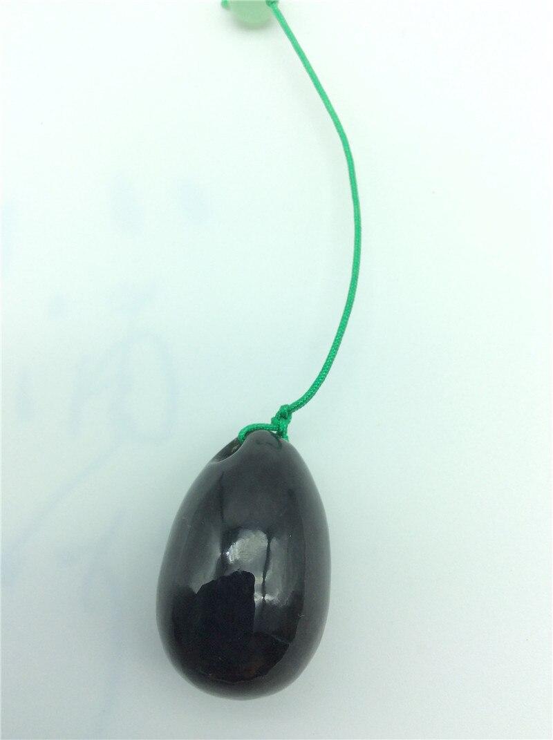 FREE SHIPPING natural sapphire jade egg for Kegel Exercise 40*30mm Pelvic Muscle Vaginal Tightening Ben Wa ball yoni egg