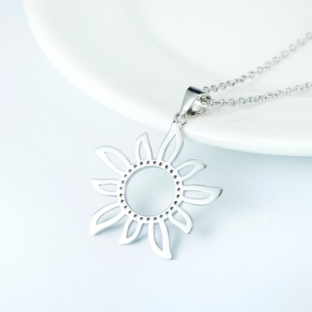 Wholesale gnx9027 925 sterling silver crystal sunflower pendant wholesale gnx9027 925 sterling silver crystal sunflower pendant necklace fashion jewelry cubic zirconia necklace collier in pendant necklaces from jewelry aloadofball Gallery