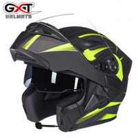 2018 New GXT Open Face Double Visors Motorcycle Helmets G902 Flip Up Motorbike Helmet With Bluetooth