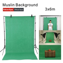 Falcon Eyes 3x6m Photography Muslin Background Screen Cotton Chroma Key Backdrop For Studio Photo Props