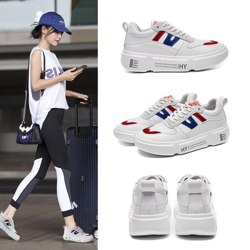 Nuevo Vrouw White Zapatillas Alto Para Mycoron Cuña Mujer 2018 Schoenen Diseñador Fondo De Zapatos Grueso Tacón Botas Lujo 5xaq4wTx