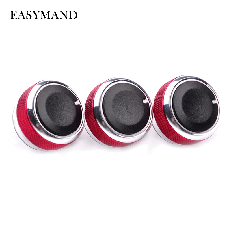 3pcs Per Set Car Air Conditioning Turning Switch Knob AC Knob for FORD FOCUS 2 Focus