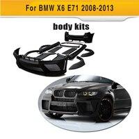 Preto Primer FRP Body Kit Kits Com Porta de Escape para BMW X6 E71 SUV 4 2008 2013 xDrive35i xDrive50i acessórios do carro|kit car bodies|kit kits|kit bmw -