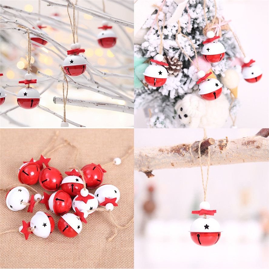 New Colorful Christmas Bells For Xmas Tree Decor 10Pcs ...