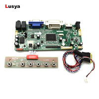 HDMI DVI VGA AUDIO interface Controller Drive Board set For Panel 14 inch LP140WH4 BT140GW01 1366*768 LVDS 40pins T0142