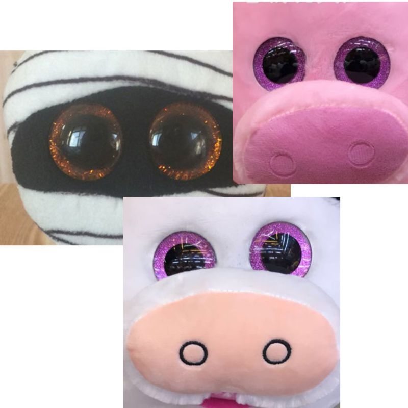 16 20 24mm 10pcs Shinning Plastic Doll Eyes Craft Eyes DIY For Plush Bear Stuffed Toys Animal Puppet Dolls Dec17