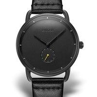 Watch men New Top Brand Luxury Quartz Casual Black Japan Men watch stainless steel Wooden Face ultra thin clock male Relogio