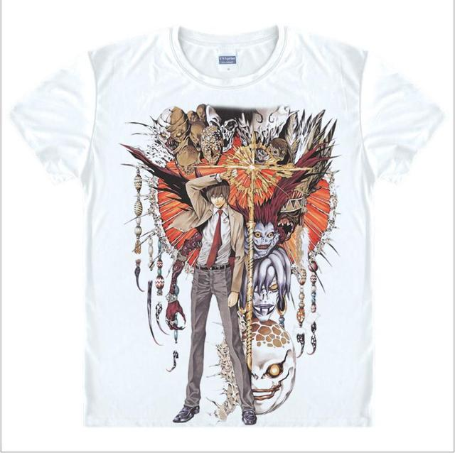 Death Note T Shirts Man Short Sleeved Men T-Shirt fashion Tops China Size Mens Top Cotton Tees Free Shipping Casual Tshirts