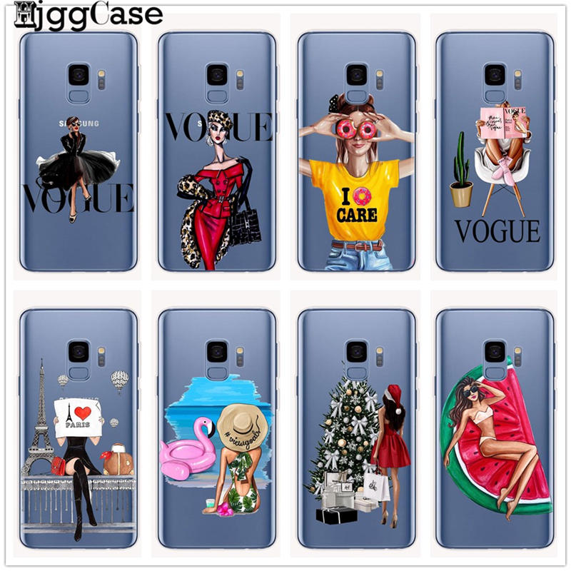 VOGUE Christmas girl Queen Phone Case for Samsung Galaxy S6 S7 Edge S8 S9 10 plus J5 J7 A5 A7 2017 J4 J6 A6 A8 plus 2018 cover
