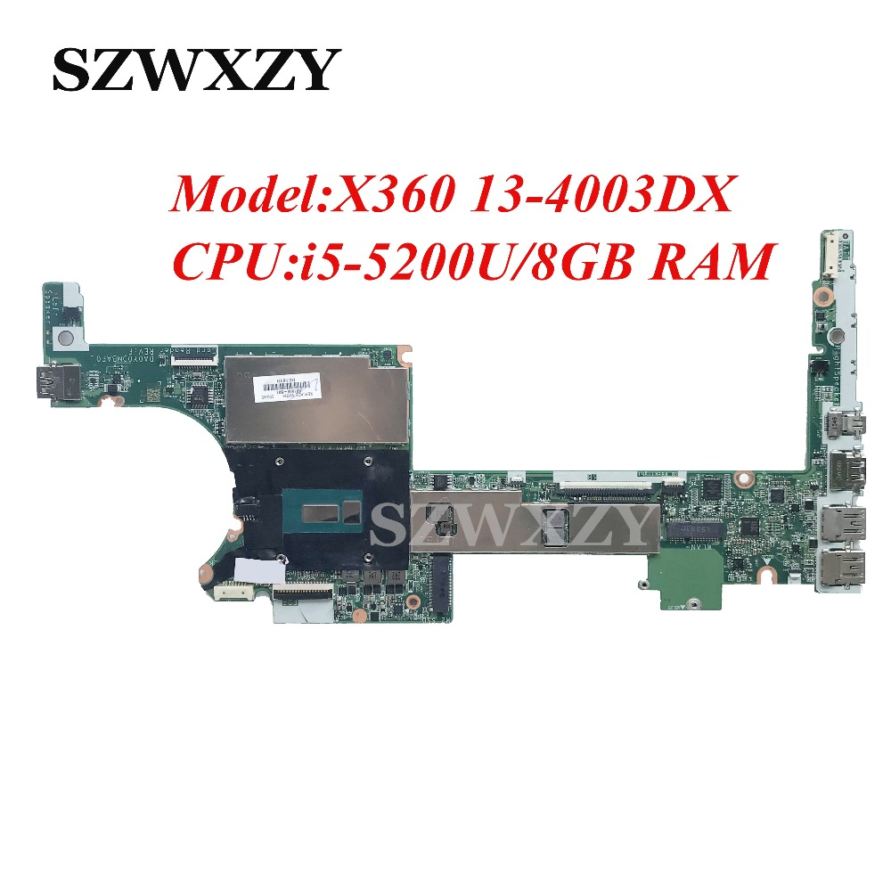 For HP X360 G1 13 4003DX Laptop Motherboard With i5 5200U CPU 8GB RAM 801506 501