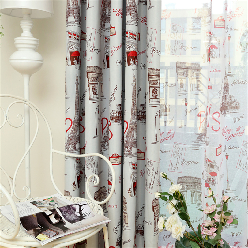 2016 fashion red blue organza curtains customized sheer curtains modern minimalist blackout curtains for bedroom living room in curtains from home garden