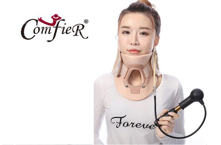 Neck Support Braces Household Cervical Collar Air Traction Therapy Device Relax Pain Relief Tool Universal Size Health Care cofoe household cervical vertebra bt jz cervical spondylosis massager neck pain traction physiotherapy health device 2017 newest