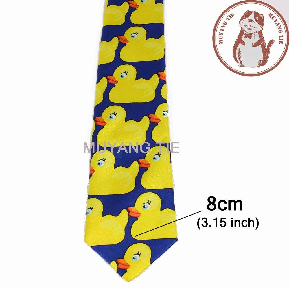 Желтая резиновая утка галстук мужской Модный повседневный необычный Ducky Профессиональный галстук четыре размера Галстуки - Цвет: 1