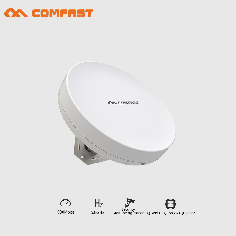 2pcs 2-5KM Long Range Outdoor CPE 900Mbps Wireless WDS bridge 5Ghz wifi extender POE router Repeater point to point transmitter
