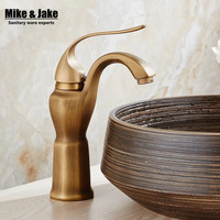 Whole Brass Antique Brass Basin Faucet Art Basin Bathroom Faucet Hot And Cold Antique Water Tap