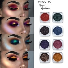PHOERA 12 Colors Glitter Eyeshadow Powder Diamond Loose Eyes Highly Pigment Shimmer Metallic Cosmetic Palette Makeup