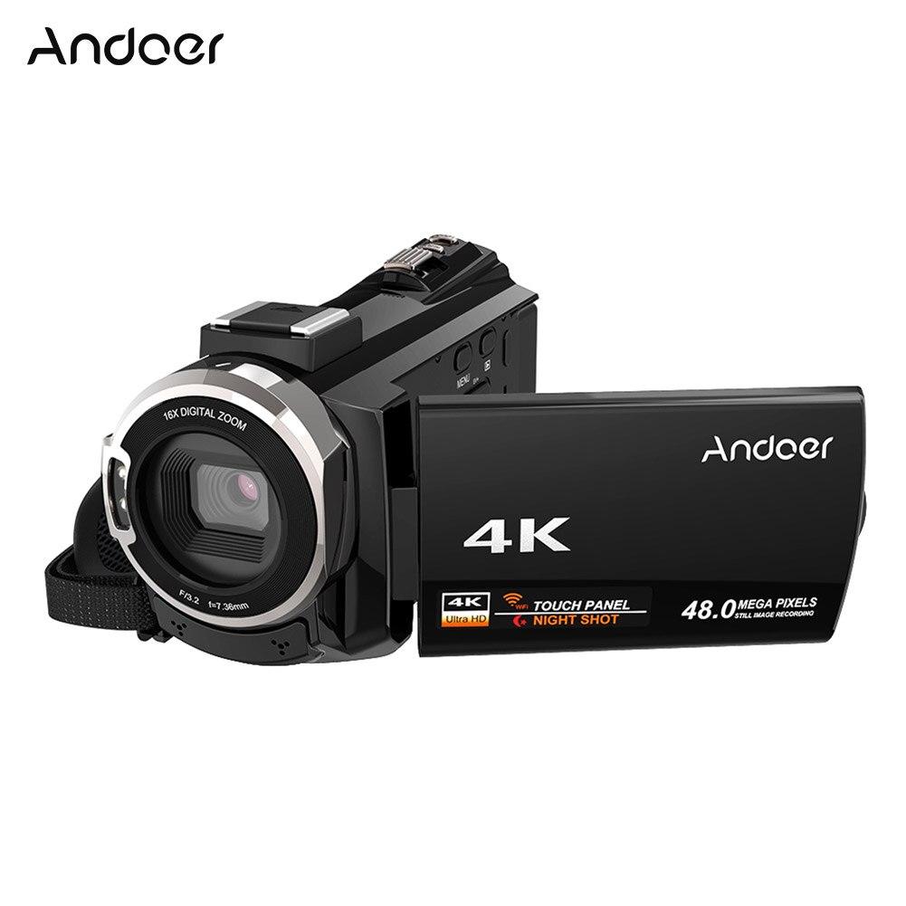 Andoer 4 k 1080 p 48MP WiFi Digitale Video Camera Camcorder Recorder w/Novatek 96660 Chip IR Infrarood Ondersteuning externe Microfoon-in Klant Camcorders van Consumentenelektronica op  Groep 1