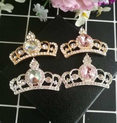 10pcs per lot 40mm 28mm Cell Phone Case DIY Charms Alloy Crystal Crown  Decoration a4427c0a09fe