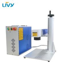 20W fiber laser marking machine for Aluminium/gold laser engraver portable with 2D worktable все цены