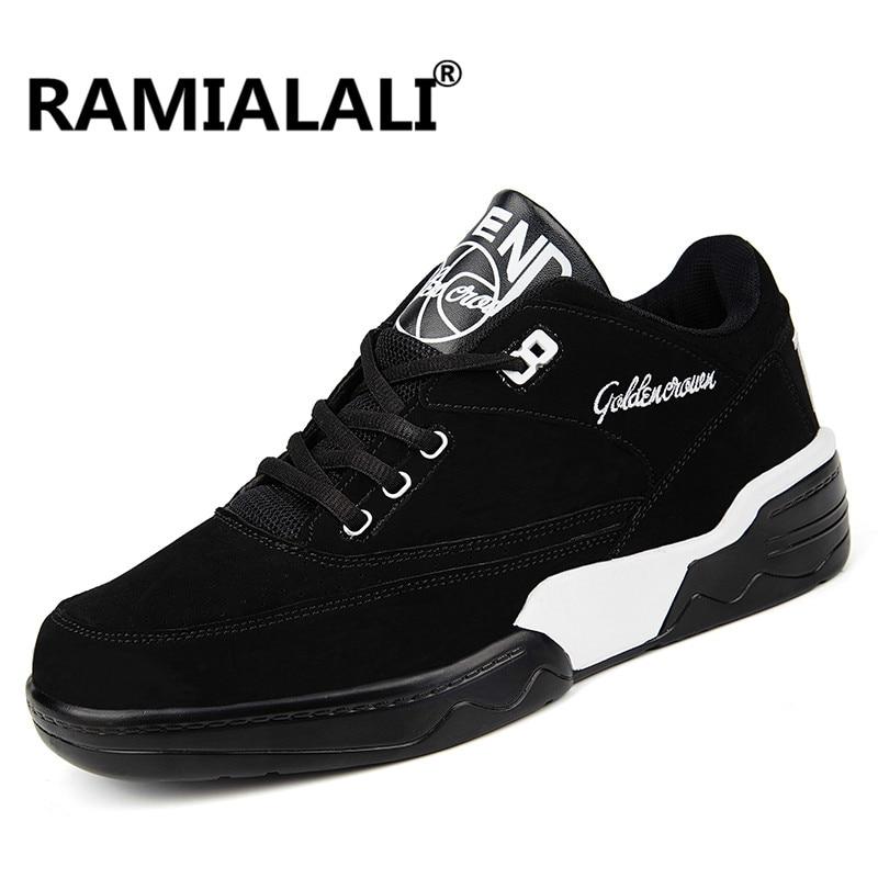 Ramialali Для мужчин Кроссовки Резина кожа спортивные Для мужчин кроссовки Спортивная обувь дышащий мужской прогулки Бег Обувь