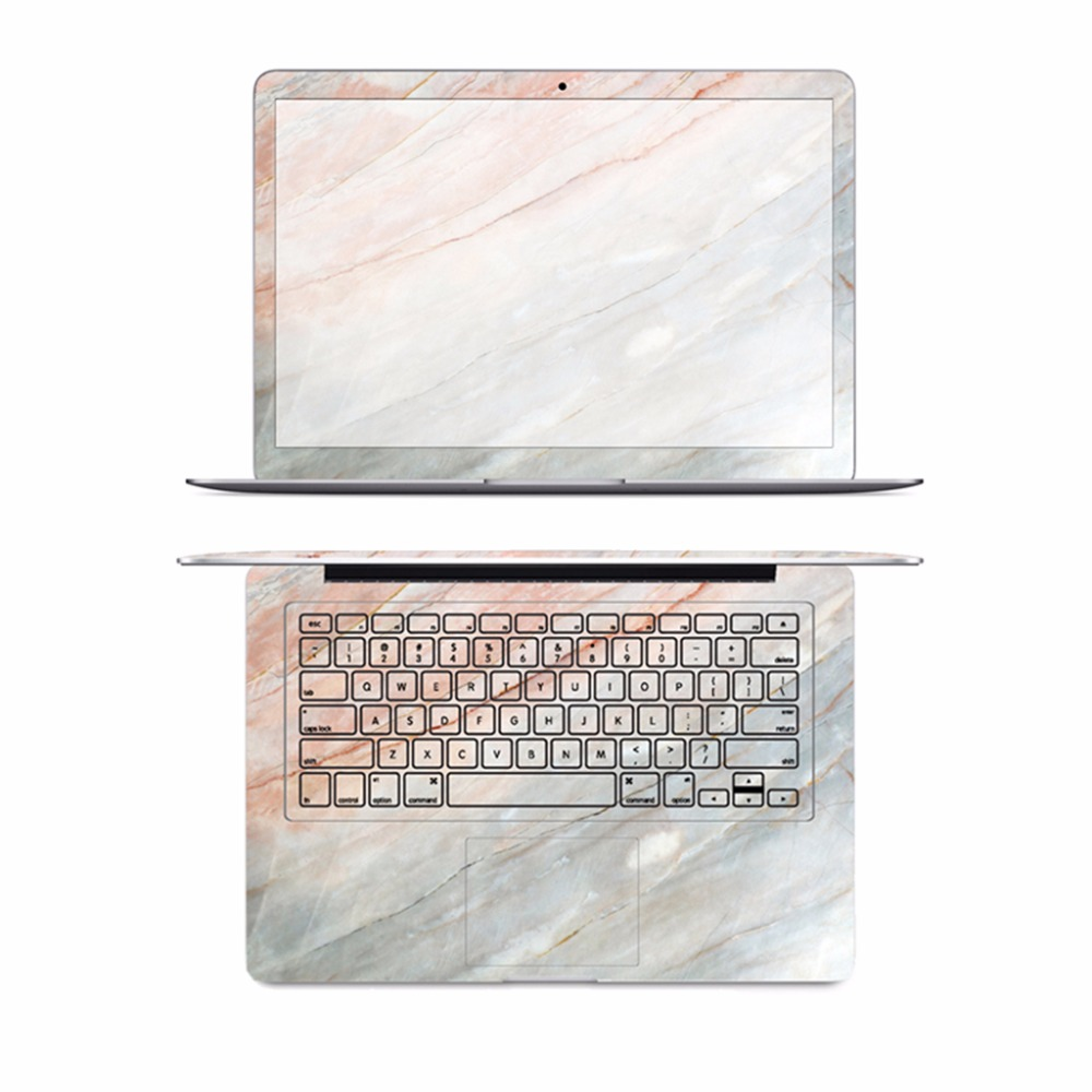 3 in 1 Marble Laptop Full Skin Laptop Sticker Cover for