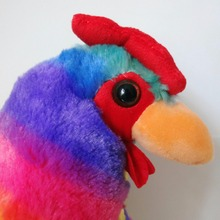20CM/30CM Plush Rainbow Cock Toys Doll Stuffed Plush Animals Rooster Toys Chicken Mascot Soft Pillow Toys for Kids Girls Gifts