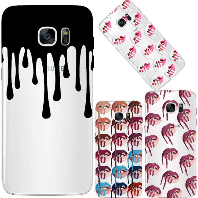 uk availability 02d32 8733e US $3.66 |Kylie Lips Sexy Girl For Samsung Galaxy S7 S6 Edge Case Silicone  Soft TPU Clear Phone Cases Back Cover on Aliexpress.com | Alibaba Group