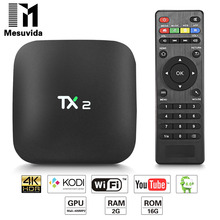 TX2-R2 TV Box Android 6.0 Smart TV Box Lecteur BT 2.0 KD 2G 16G ARM Cortex-A7 RK3229 32Bit 2.4 GHz WiFi 4 K x 2 K PK Nexbox X96