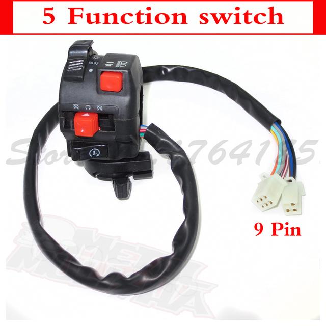 Universal Motorcycle Atv Dirt Bike Accessories Go Kart Parts  Function Multi Function Switch