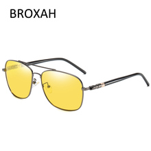 Vintage Mens Polarized Sunglasses Night Visual Oval Pilot Glasses Brand Driving Metal Okulary Lentes De Sol Hombre