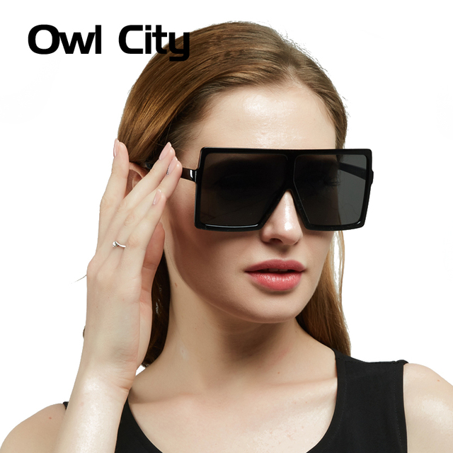 22a8f416cdcb Oversize Rectangle Sunglasses Men Luxury Brand designer Vintage Sun Glasses  Male Retro Women Gradient Lens Eyewear