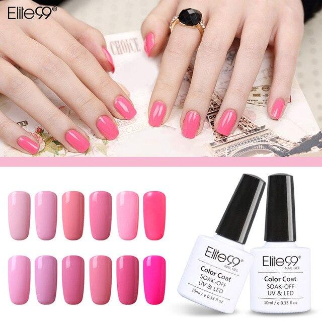 Elite99 12 unids Rosa Precioso Conjunto Para El Kit de Uñas de Gel ...